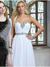 $439 NWT WHITE TONY BOWLS PROM/PAGEANT/FORMAL DRESS/GOWN CB05 SIZE 4