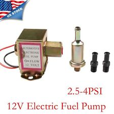 Universal Low Pressure Gas Oil Electric Fuel Pump for Petrol Diesel 2.5-4PSI 12V