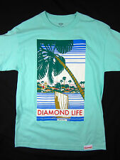 Diamond Supply Co. mint blue skate men's T shirt size MEDIUM