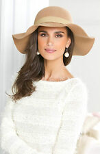 Retro Women Ladies Floppy Wide Brim Wool Fedora Hat In Vogue Fashion Vintage