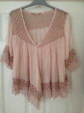 Ladies Size 14-16 Pink Lace Effort Shrug