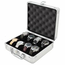 8 Watch Case for Collectors Briefcase Store Safe Aluminum Handle