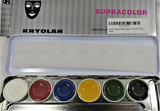 Kryolan 1007 A Supracolor Makeup Palette 6 Colors Face Body Professional *NEW*