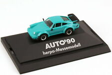 1:87 Porsche 911 turbo Type 930 turquoise Exhibition model Car 90 - herpa