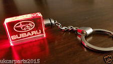 RED Crystal led light car key chain keyring fob for SUBARU Impreza WRX Forester