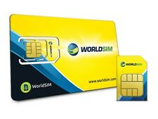 WorldSIM International Travel SIM Card for US/UK/AUS/EU/USA/CA + Free $30 Credit