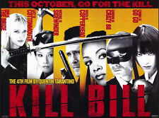 KILL BILL VOL. 1 Movie MINI Promo POSTER C Uma Thurman Lucy Liu Vivica A. Fox