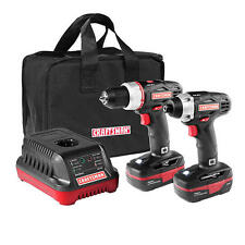Craftsman C3 19.2 V 1/2 in Drill, 1/4 in Impact Driver Combo Kit,2 batts,Charger