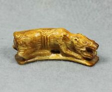 Carve Phra LP Derm Tiger Magic Powerful invincible Talisman Thai Amulet Buddha