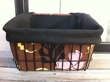 BICYCLE BASKET LINER BROWN HAWAIIN FLOWER BEACH CRUISER COMFORT BIKES CYCLING !