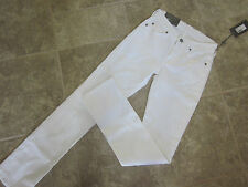 7 For All ManKind Kimmie 24 W x32 I Low Rise Straight White Jeans NICE $169