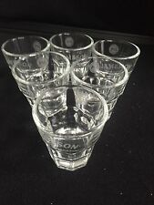 Jameson's whiskey shot glasses x 6 home bar pub man cave