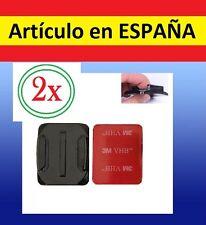2x Pegatina + Soporte CURVO CASCO BICI MOTO Camara accesorios GOPRO HERO 1 2 3+