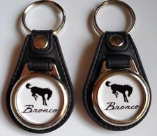 FORD BRONCO KEYCHAIN 2 PACK FOB CAR LOGO WHITE