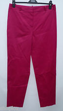 Ladies M&S Collection Size 12 Medium Cotton 7/8 Tapered Stretch Trousers Bnwot