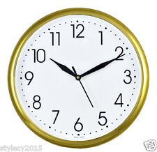 "SUN GOLDEN 10"" inches Wall Clock Simple Descent for Home & Office - WC501"