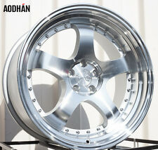 AODHAN AH03 18x9.5 5x114.3 +30 Silver (PAIR) fitments to work on most cars!