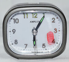 Amplus Sweep movimiento Beep Despertador Grey Dial Rostro Blanco Luminoso Mano pt182