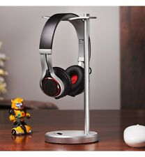 Solid Base Classic Aluminum Desktop Headphones Stand for Beats DNA Bose (Chrome)