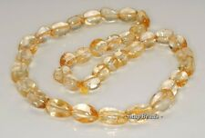 18X12-9X8MM  CITRINE QUARTZ GEMSTONE GRADUATED NUGGET LOOSE BEADS 20""