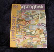 New Springbok 500 Piece Jigsaw Puzzle - Jackpot - Lottery Tickets