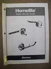 Original Homelite Dealer Service Guide yard, leaf blowers 47-pages