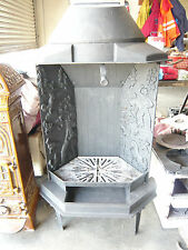 Dovre Open Fire Insert. Cast Iron, Black Multifuel Wood Burning Stove .
