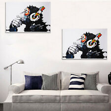 Home Room Wall Decor Fashion Music Monkey Oil Painting Art On Canvas Unframed