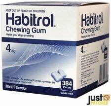 Habitrol Nicotine Gum 4mg Mint Flavor (384 Pieces,1 Bulk Box) NEW