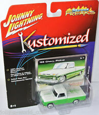 Kustomized - 1965 CHEVY PICKUP - green-white/graphics - 1:64 Johnny Lightning