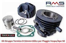 Gruppo Termico Cilindro + Pistone RMS D 55mm - 102cc per Piaggio Vespa 50 R - L