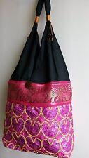 Beautiful women's ladies Thai shoulder bag  handbag handmade hippie elephants