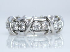 TIFFANY & CO. JEAN SCHLUMBERGER 16 STONE DIAMOND RING PLATINUM SIZE 6.5