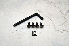 Anti-Theft *BLACK* Security Screws for BMW FRONT License Plate Frame (4 pcs)