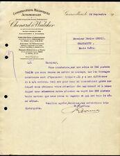 █ Facture 1912-13 CHENARD & WALCKER Constructions Mécaniques Automobiles Autos █