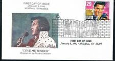 1993 Elvis Presley First Day Cover FDC Love Me Tender Memphis Collectibles