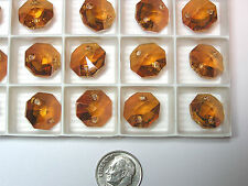 72 PIECES SWAROVSKI CRYSTAL BEADS #6404 14MM CRYSTAL COPPER - OCTAGON - 2 HOLED