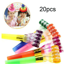 20Pcs Noise Maker Blowout Party Jazzy Whistle Blow Out Favour Bag Filler new