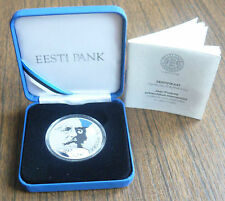 Estonia 150 Years Jaan Poska Silver Coin 10 Euro 2016 Proof in Box with Cert