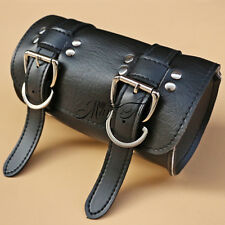 Motorcycle Scooter Tool Pouch Bag Faux Leather Round Barrel Storage Fashion New