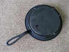 Antique Waffle Maker Primitive Cast Iron #7 & 8, Heart Squares & Diamonds Design