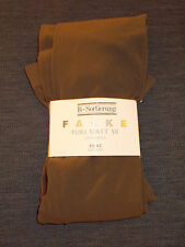 "Falke 1 Pr Pure Matt 50 3/4 Leggings M Hips 35-40"" Brown BNWT"