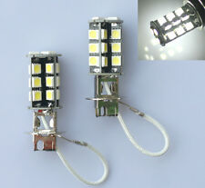 2x H3 27 LED 5050 CANBUS Error Free Fog Light Driving Head Bulb Bright White 12V