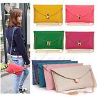 Women's Envelope Baguette Clutch Chain Lady Purse Shoulder Wristlet Bag Handbag
