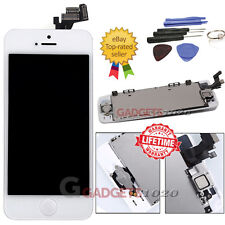 For iPhone 5 5G White LCD Touch Screen Digitizer Replacement+Home Button Camera