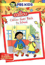 Caillou: Goes Back To School With Bonus Book (DVD, 2015, PBS) Free Shipping !!!