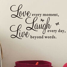 "Wall Stickers Vinyl Decal ""Live Every Moment,Laugh Every Day,Love Beyond Words A"