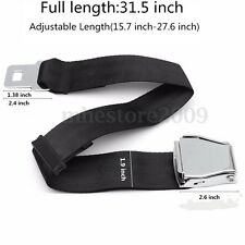 70cm 2 Point Adjustable Airplane Plane Extension Extender Seat Safe Belt Buckle