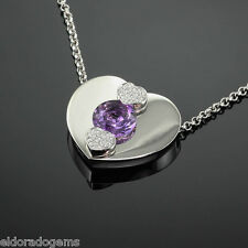 CHOPARD 3.50 ct. AMETHYST 0.24 CT. DIAMOND PENDANT NECKLACE 793833-1003 18K GOLD