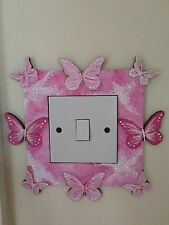 Princess Butterfly Fairy Dust Light Switch Surround, Glitter & Sparkle. Bedroom
